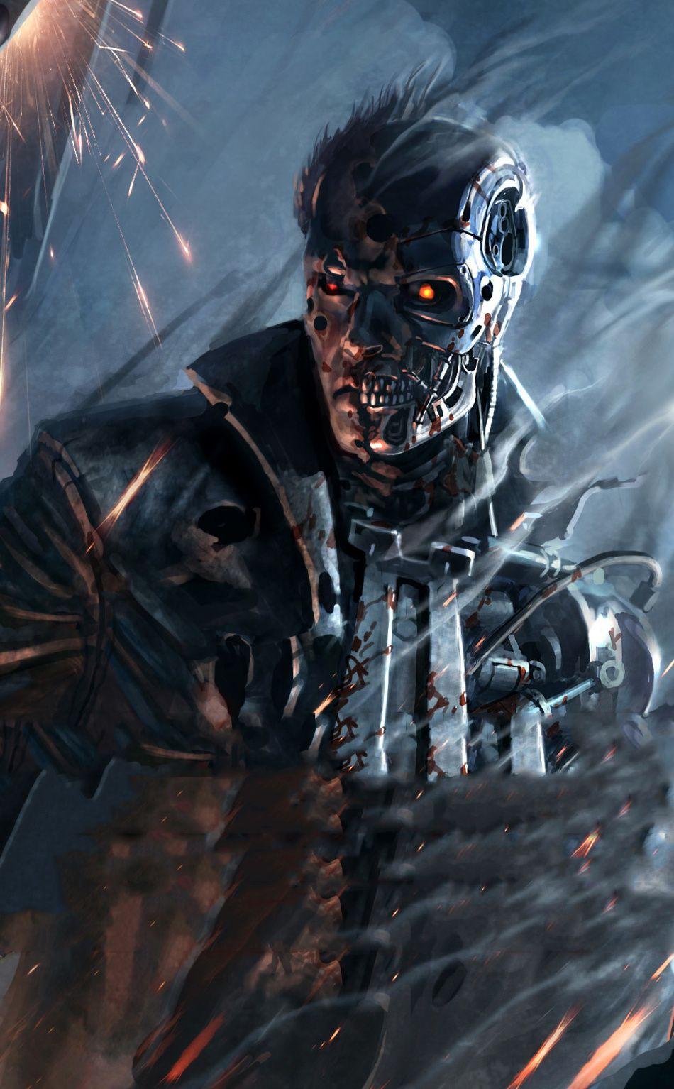 Download 950x1534 wallpaper Terminator Resistance action game 950x1534