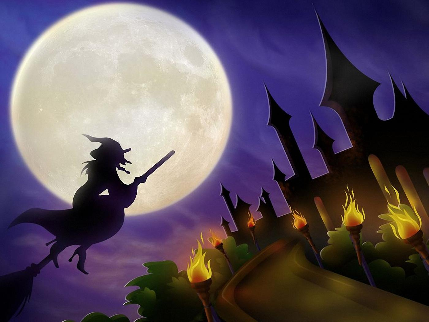 Scary Halloween 2012 HD Wallpapers Pumpkins Witches 1400x1050