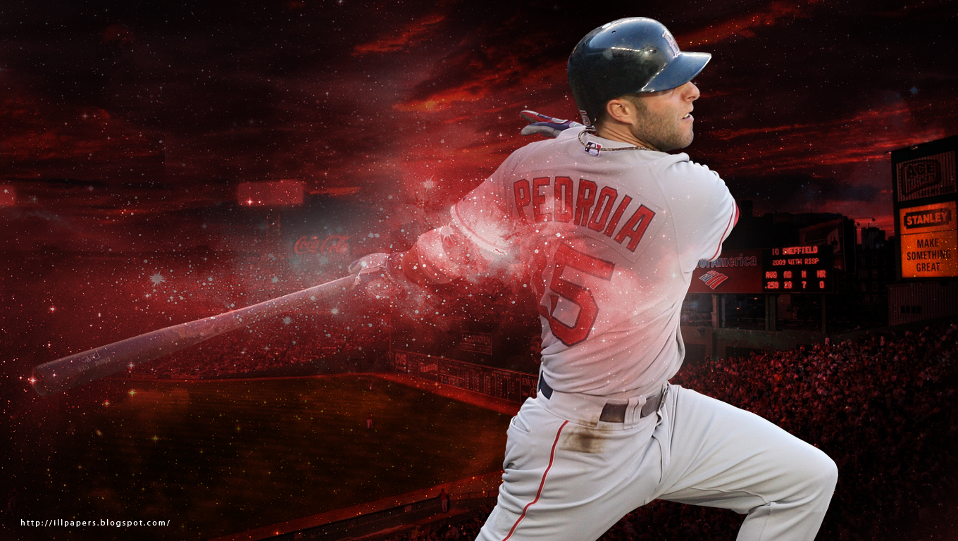 Wallpapers Backgrounds More Boston Red Sox Dustin Pedroia 1360x768