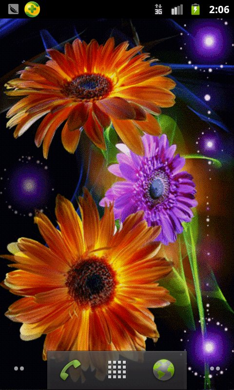 Colorful Flowers Live Wallpaper android live wallpaper 480x800