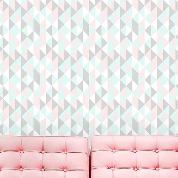 Self adhesive vinyl temporary removable wallpaper wall decal  Pastel 570x570