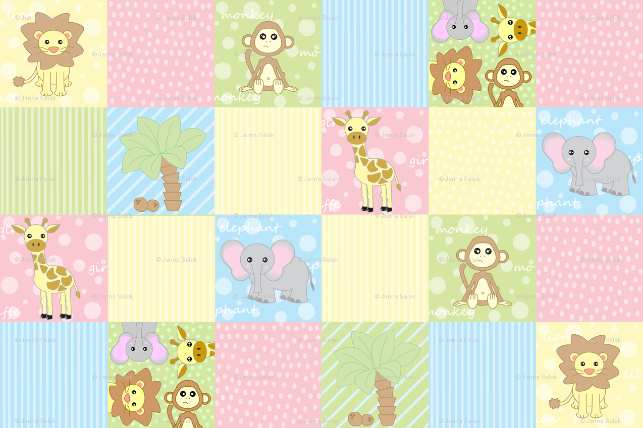 Baby safari wallpaper wallpapersafari for Cute baby fabric prints