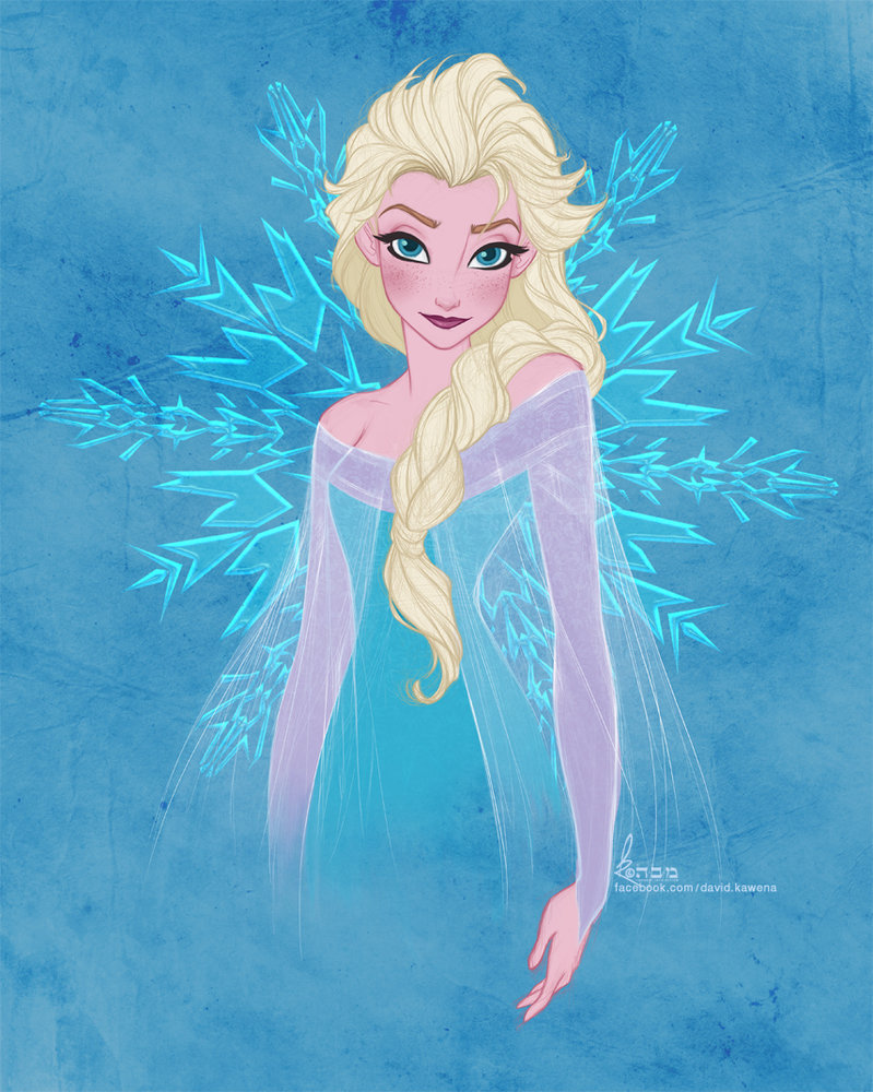 Disneys FROZEN   Elsa by David Kawena by davidkawena 799x1000