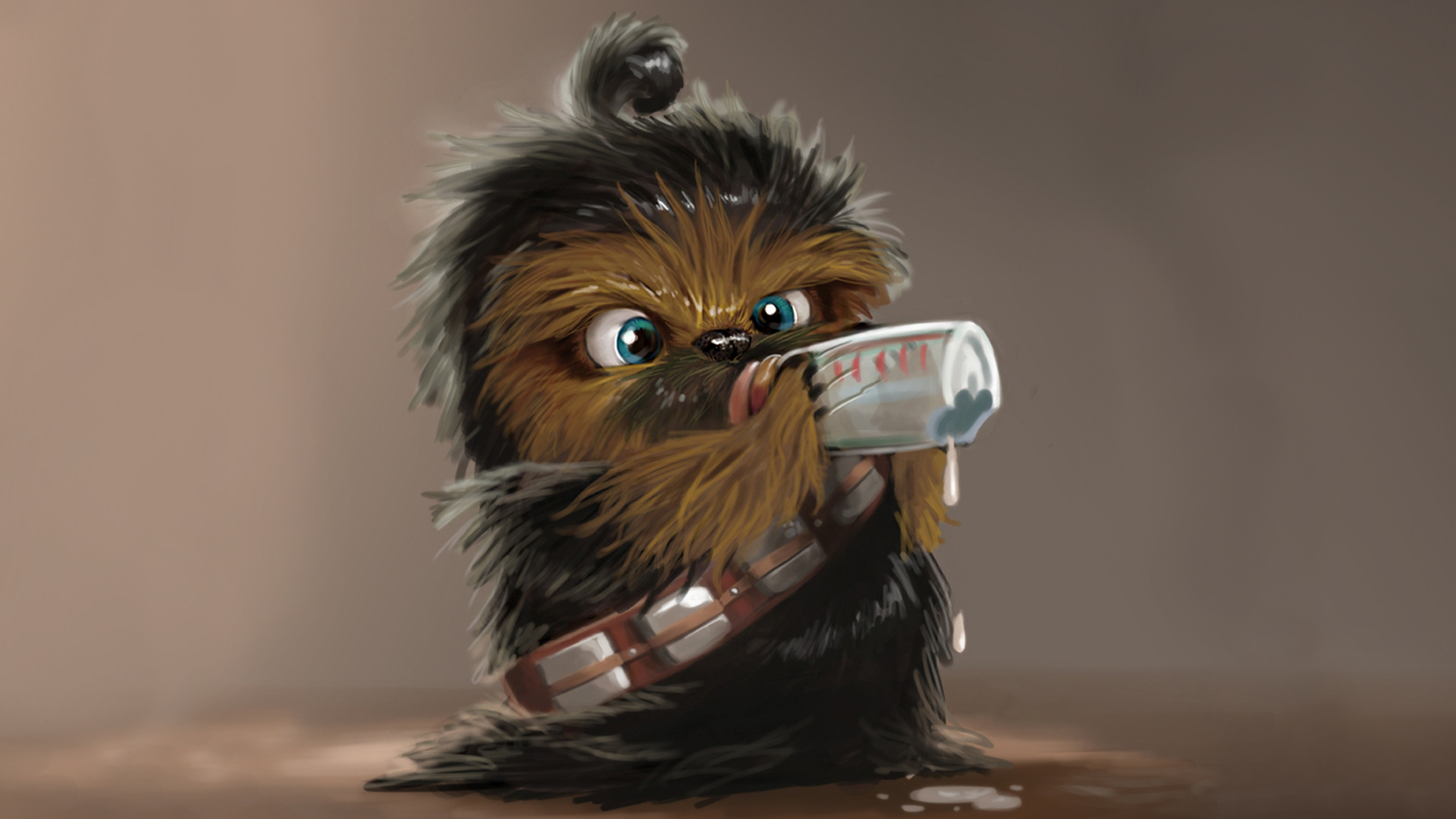 star wars chewbacca drink baby 3840x2160