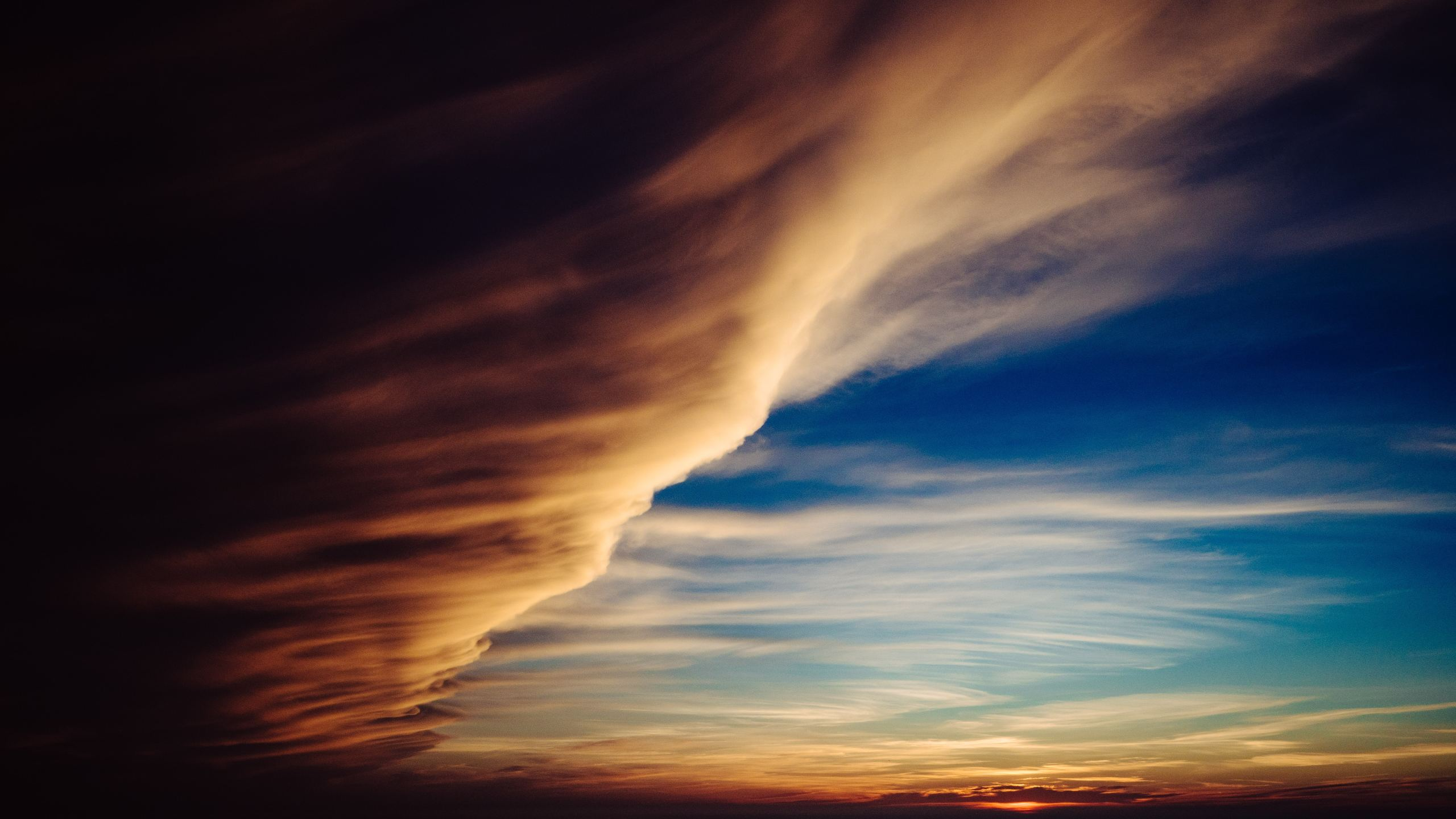 2560x1440 Clouds Like Cyclone 1440P Resolution Wallpaper HD 2560x1440