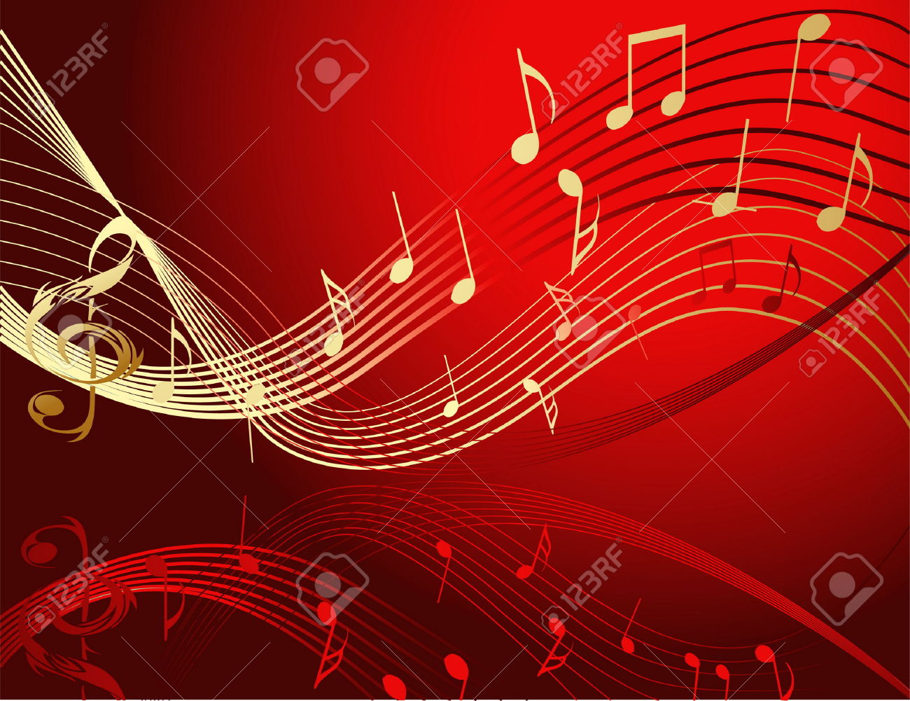Colorful Music Notes In A Lin Hd Wallpaper Background Images: Music Background Image