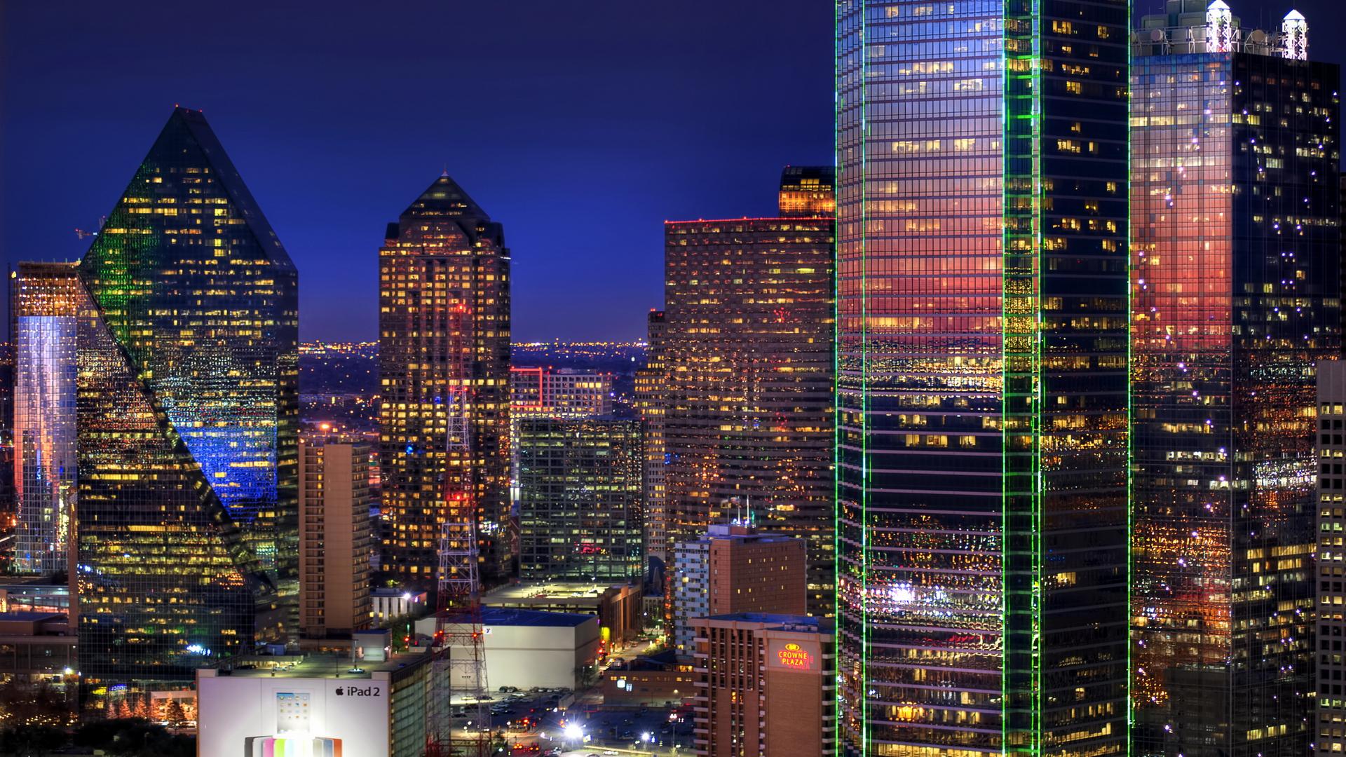 небоскребы ночь город  № 3358980 загрузить