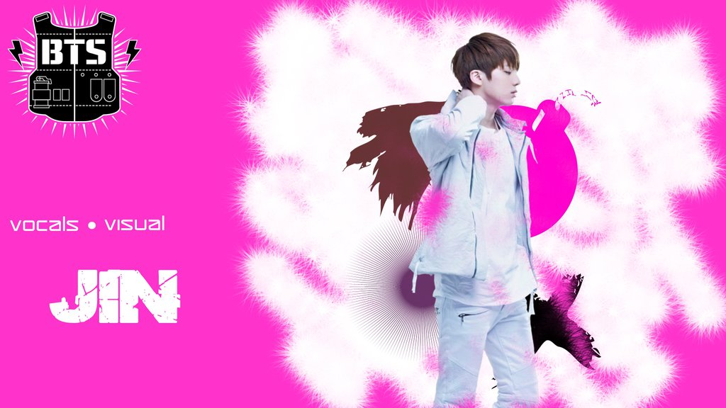 BTS Jin Wallpaper by kbtb 1024x576