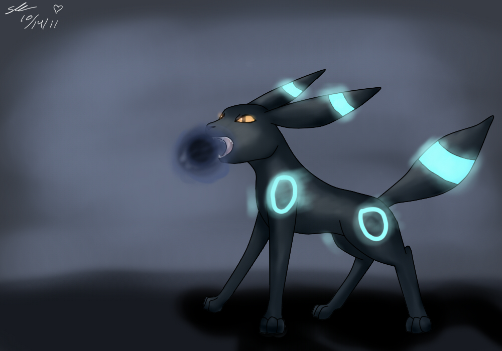 Shiny Umbreon Shiny umbreon shadowball by 1000x700