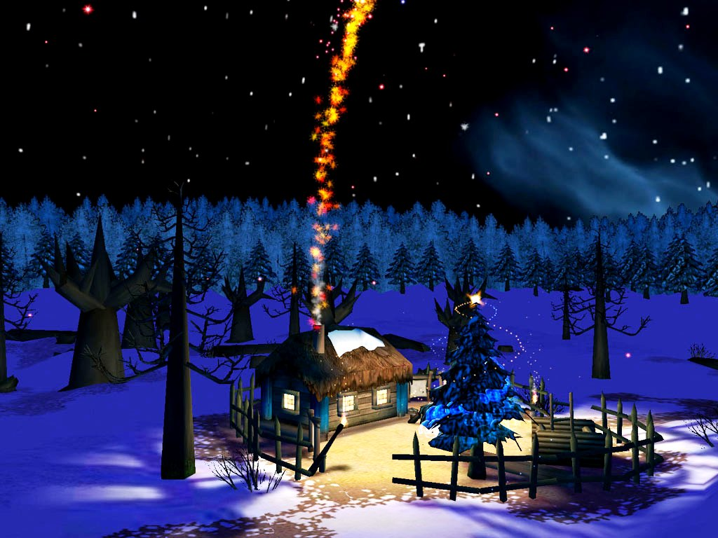 3D Animated Christmas Night photos of 3D Christmas Wallpapers by 1024x768