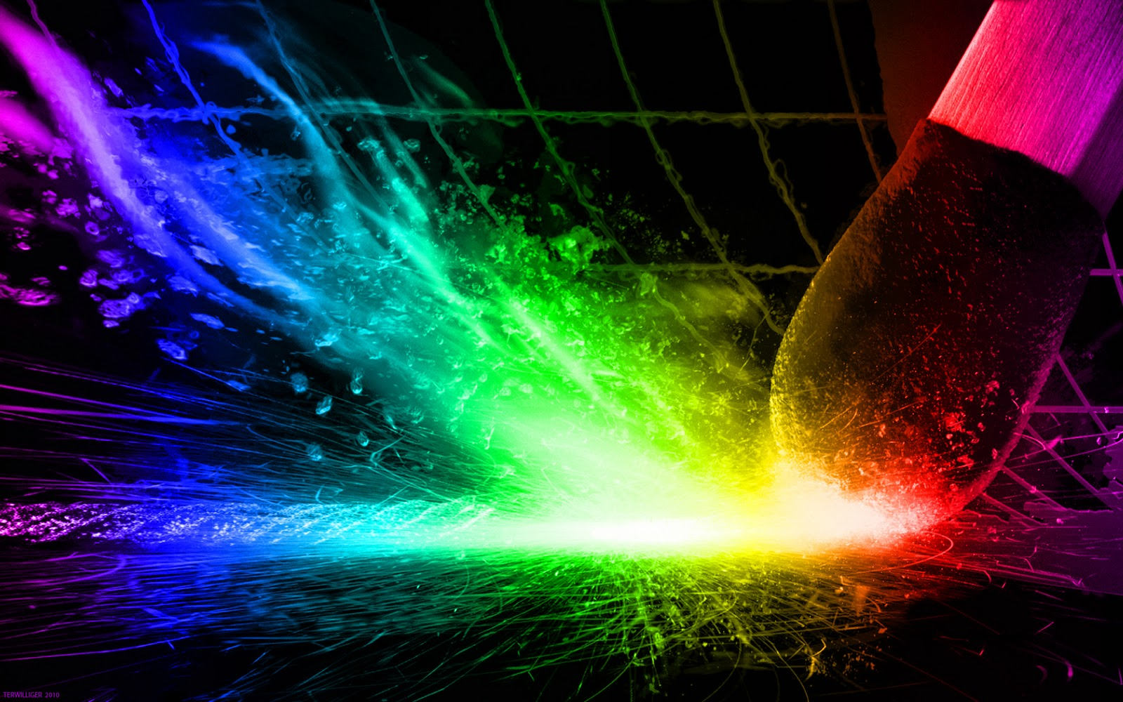 Techno Rainbow Background wallpaper wallpaper hd 1600x1000