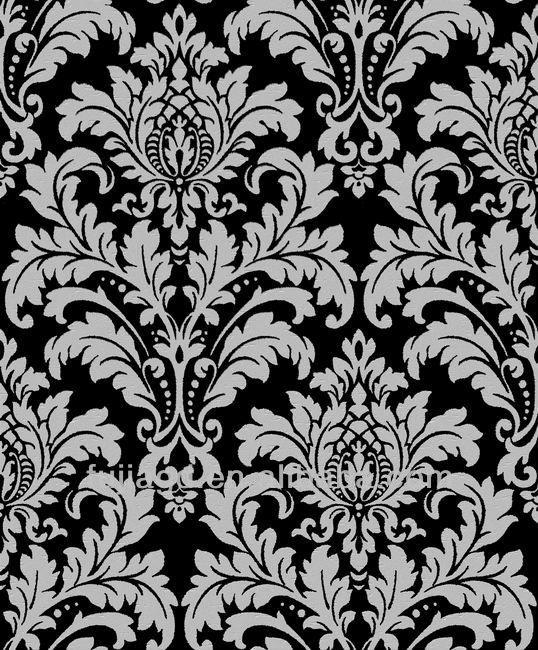 vinyl wallpaper black and white View wallpaper black and white Fujia 538x650