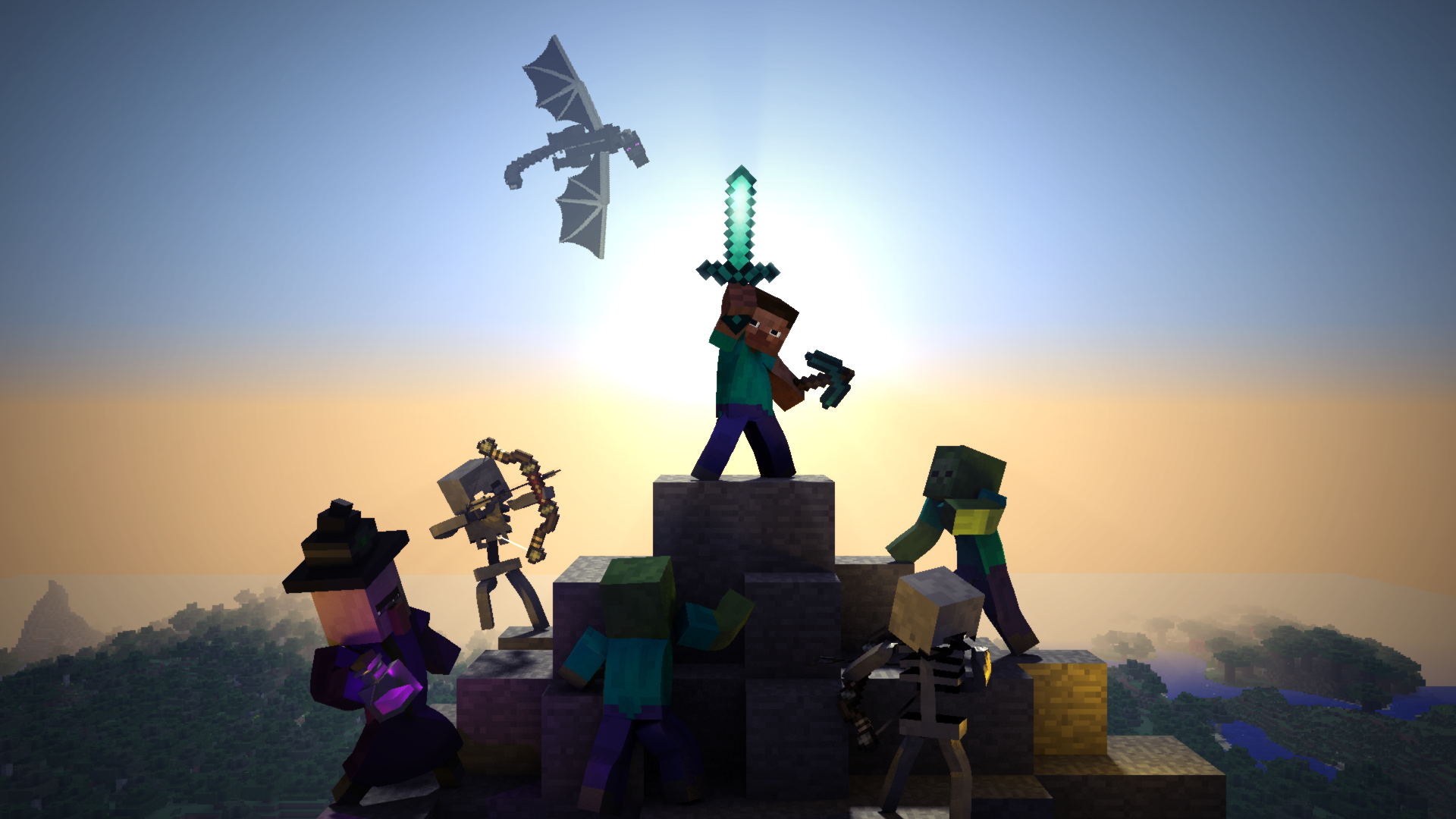 This is a HD 3D Minecraft wallpaper that I worked on I used Blender 1920x1080