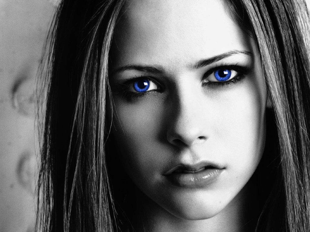 Avril blue eyes wallpapers Avril blue eyes stock photos 1024x768