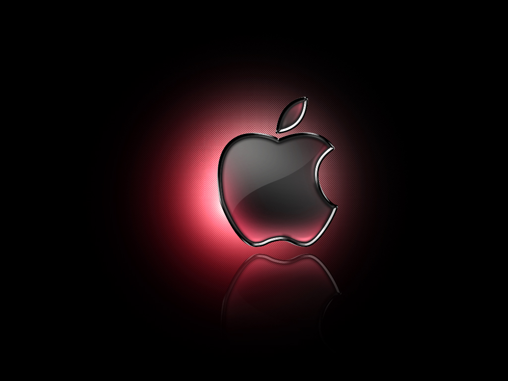 Red Apple Logo iPad wallpaper background fit for your iPad2 and iPad 1024x768