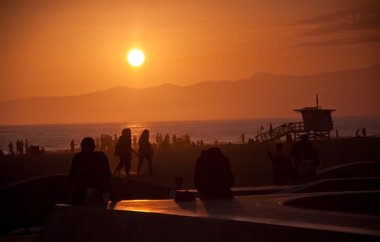 Wallpaper summer california ocean sunset usa los angeles 1332x850