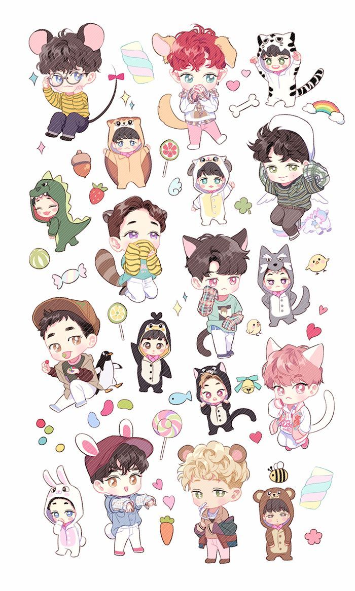 Bts Fanart Chibi Wallpaper   Best Fan ImageFormsCo 700x1167