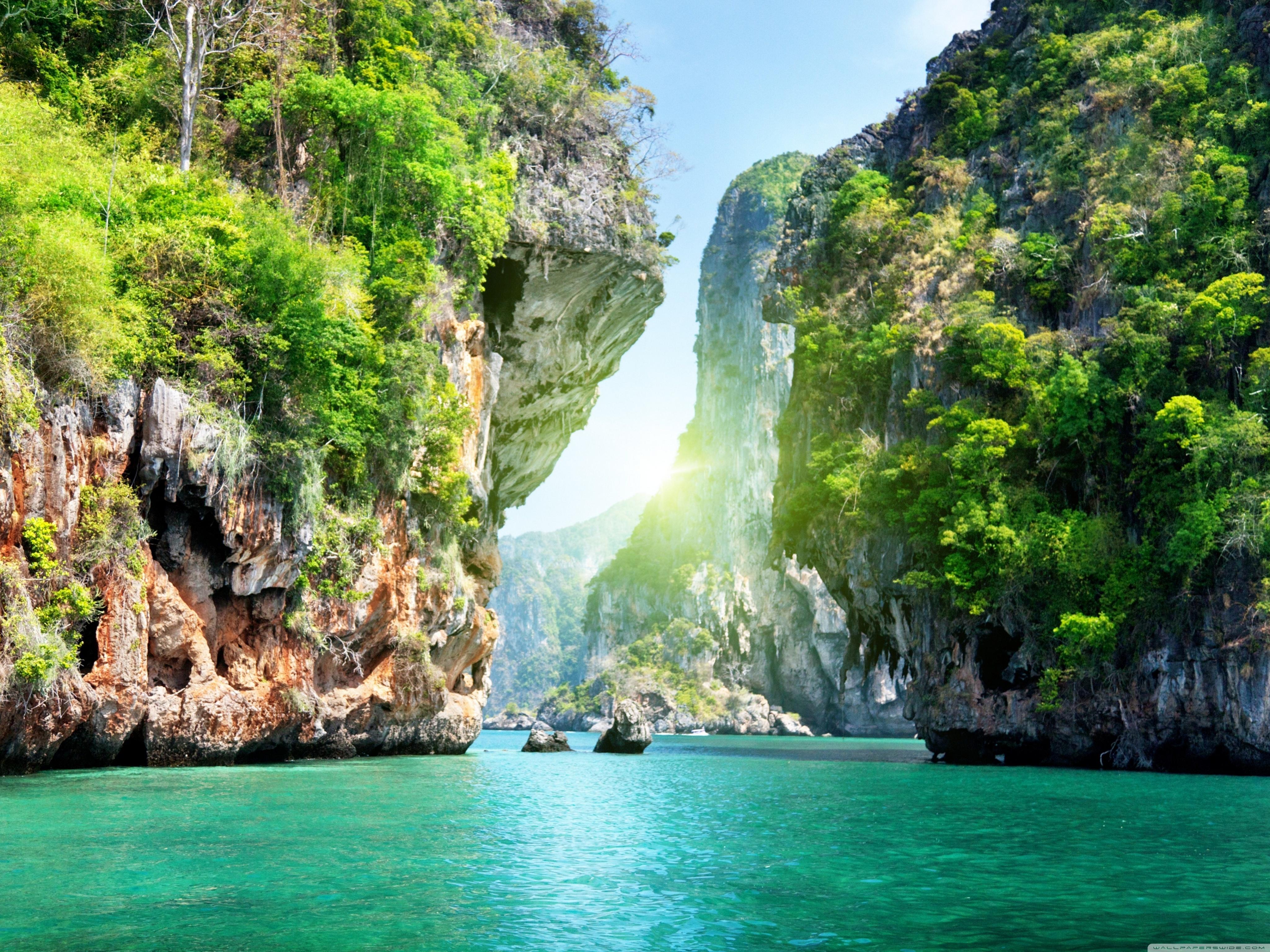 Ocean Islands 4K HD Desktop Wallpaper for Dual Monitor 4096x3072