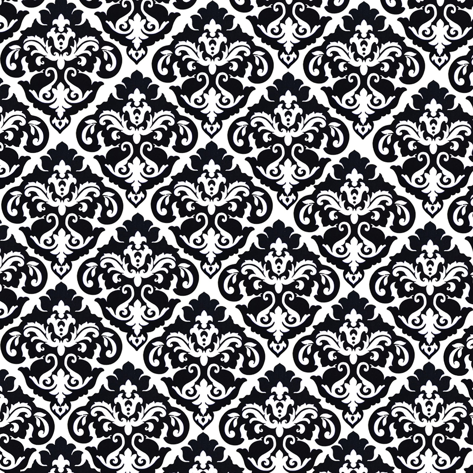 Black And White Damask Pattern Wallpaperawsome Backgrounds Wallpapers 1600x1600
