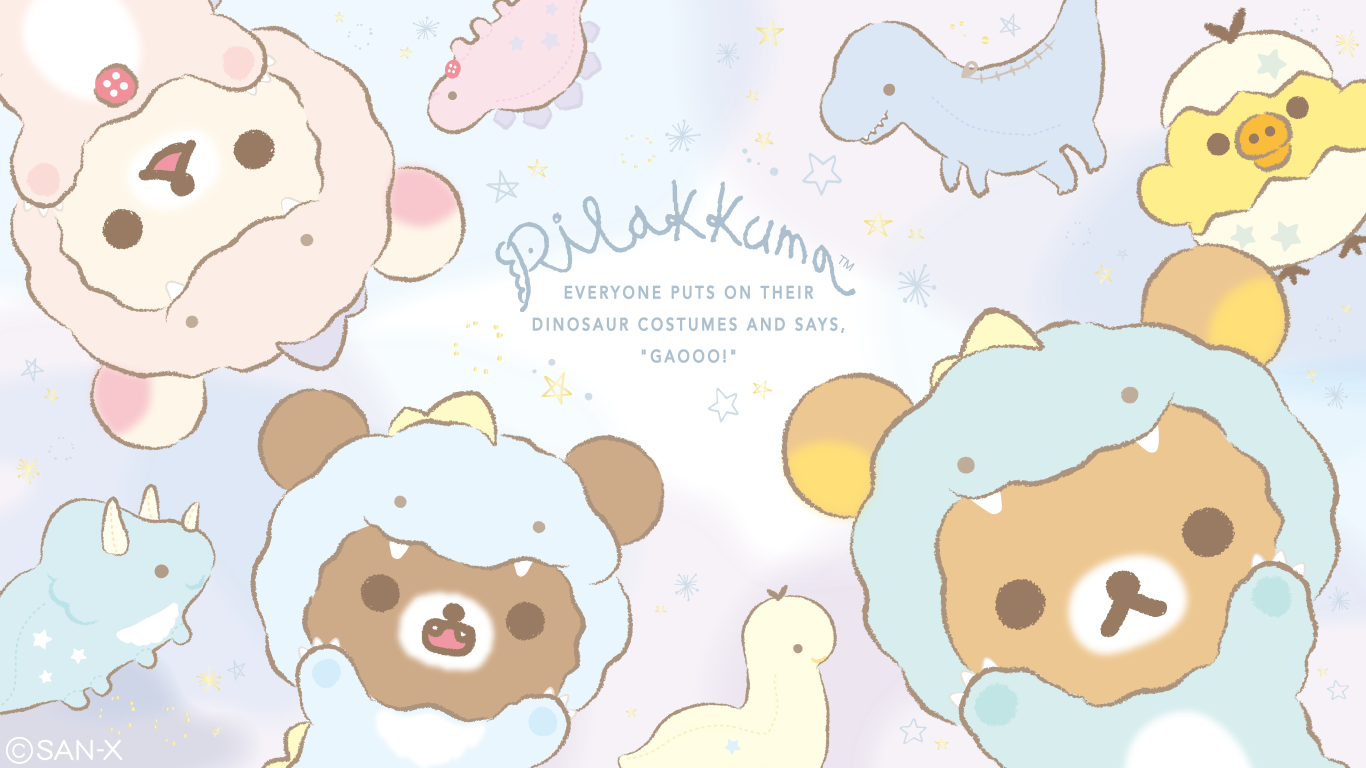 Brand new FREE downloadable Rilakkuma wallpapers modeS Blog 1366x768
