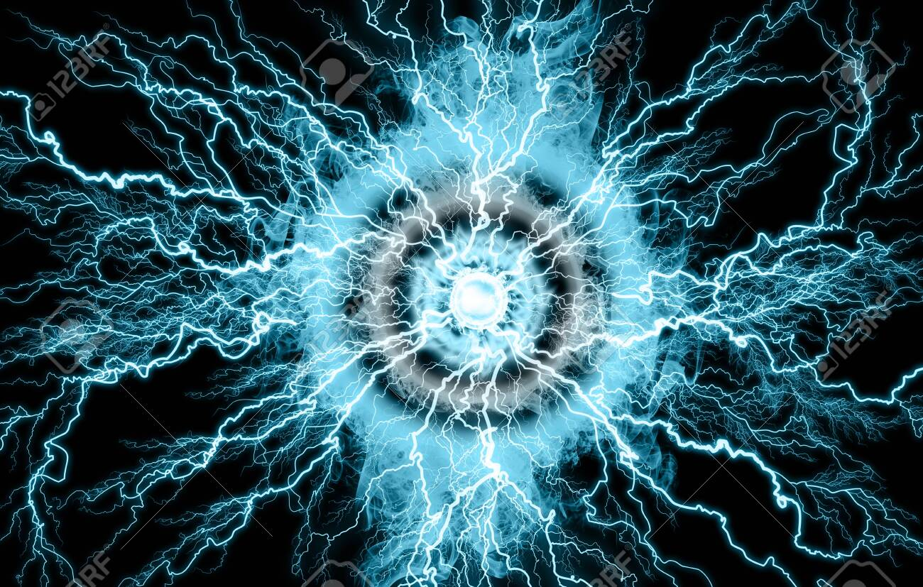 Electric Lighting Effect Abstract Techno Backgrounds Stock Photo 1300x827