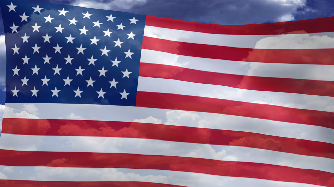 Xp 301 Moved Permanently3D Animated Desktop Wallpaper American Flag 1280x720