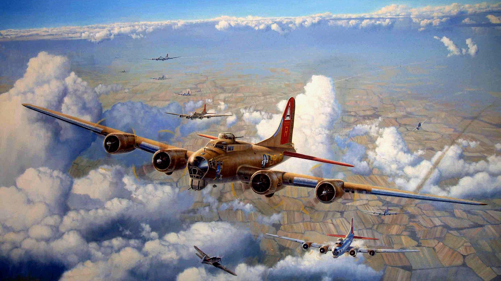 17 flying fortress artwork WW II wallpaper   ForWallpapercom 1920x1080