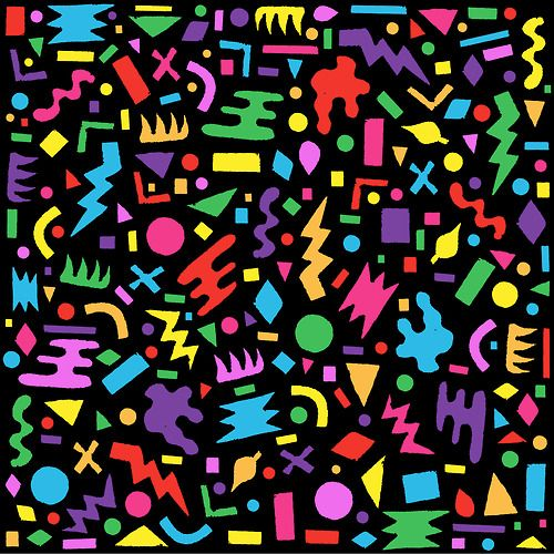 80s 90s Abstract Pattern Design wwwart by kencom 500x500