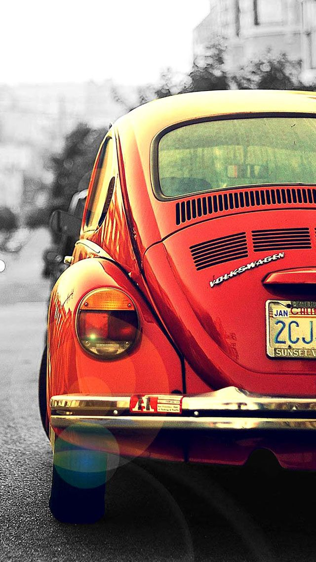 Red Beatle Car Mobile Phone Wallpapers Iphone 5c 640x1136