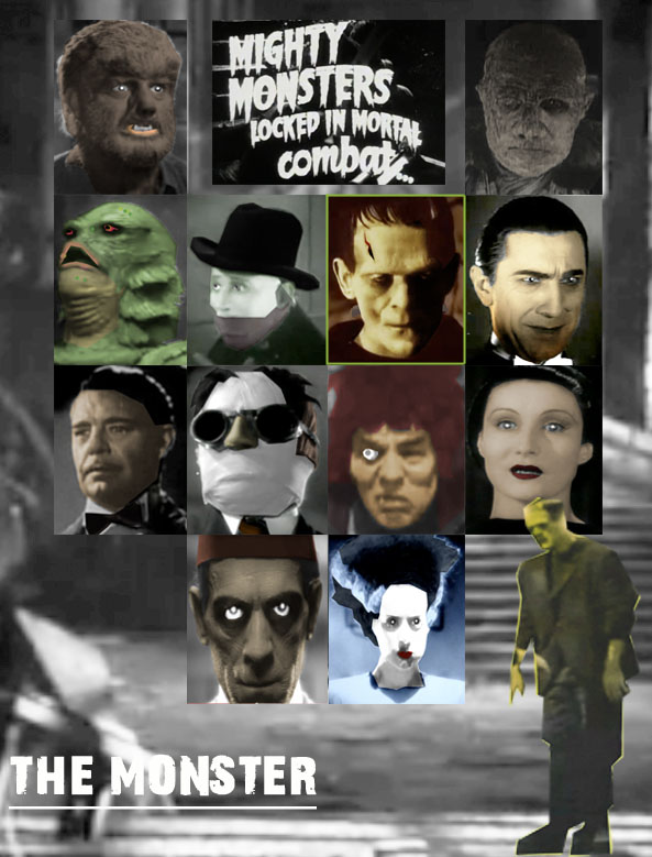 Universal Monsters Game by KrabScrambly 593x779
