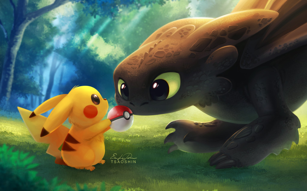 toothless and stitch pikachu Car Pictures 1024x640