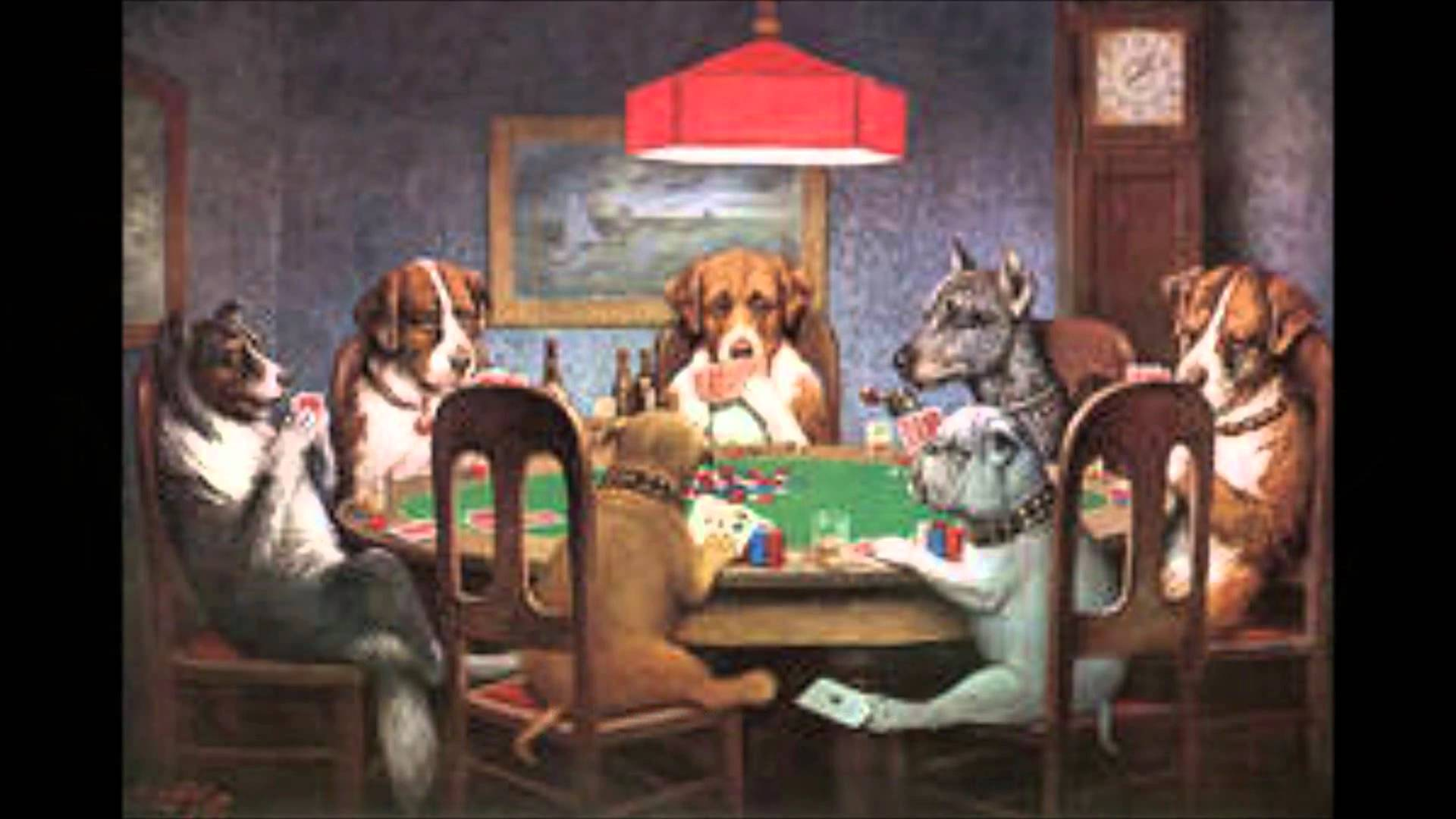 Picture Of Michael Vick Playing Poker With Dogs