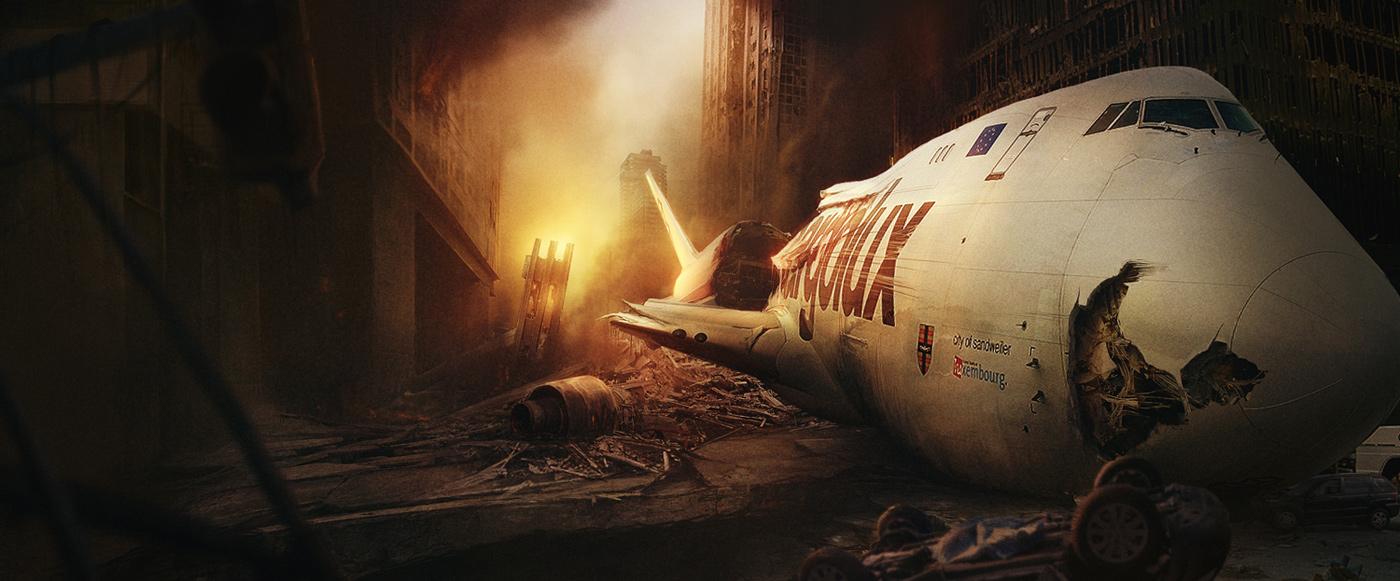 Plane Crash Hd Wallpapers Wallpaper Background 1400x581