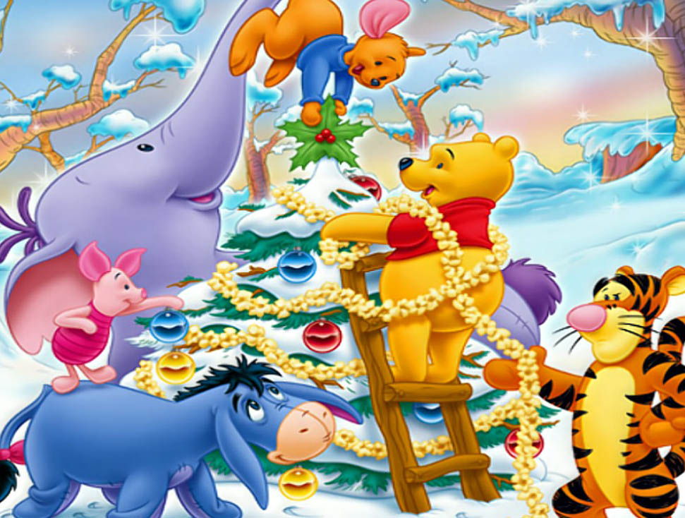 Winnie The Pooh & Friends Christmas Holiday Pictures