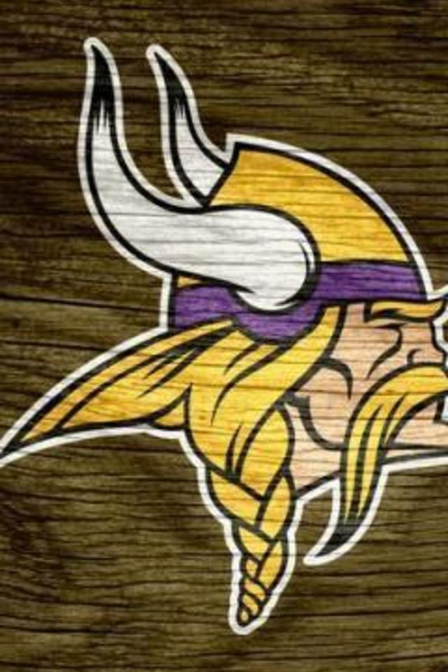 Minnesota Vikings Brown Weathered Wood Wallpaper for iPhone 4 640x960