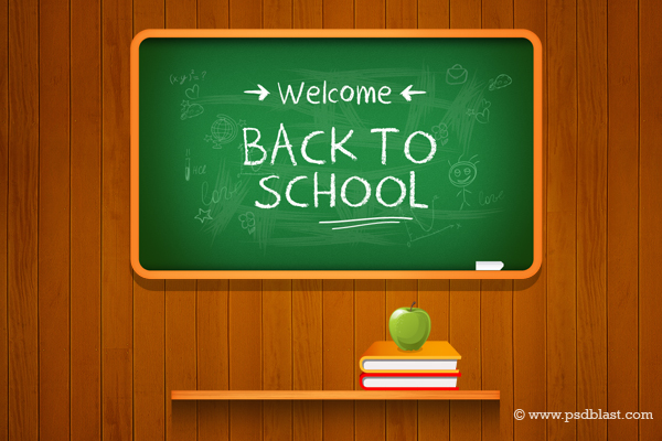 Vector Back to School Background   Freebies   Fribly 600x400