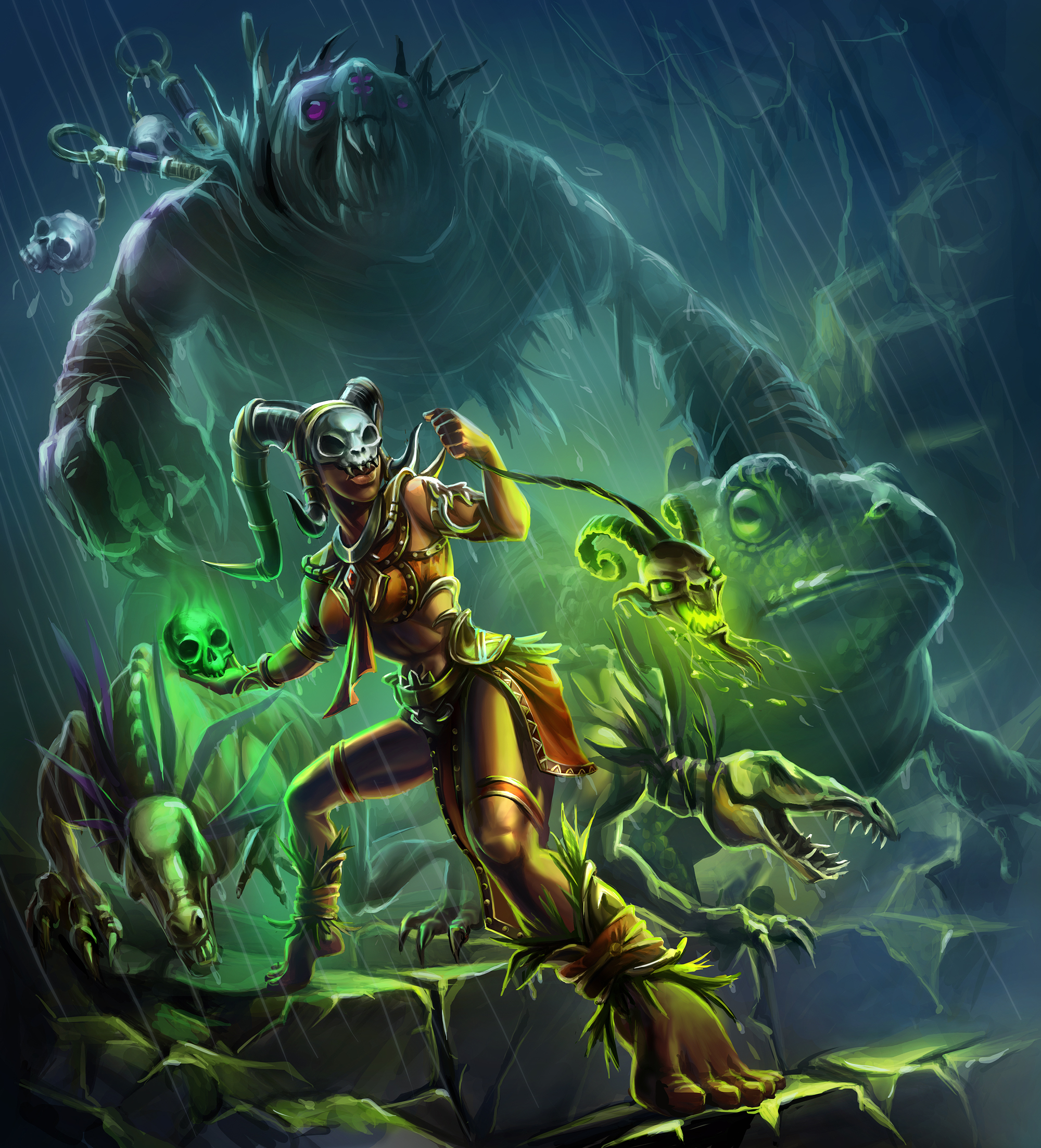 Diablo 3 Wallpaper 1920x1080: Diablo 3 Witch Doctor Wallpaper