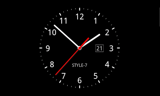 Analog clock as application live wallpaper and widget Use long touch 517x310
