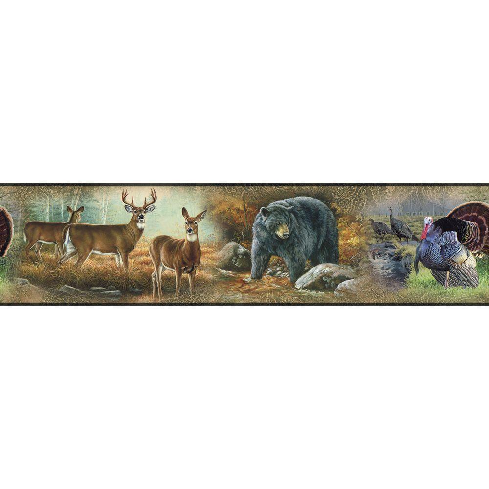 RoomMates Wildlife Medley Peel and Stick Wallpaper Border 1000x1000
