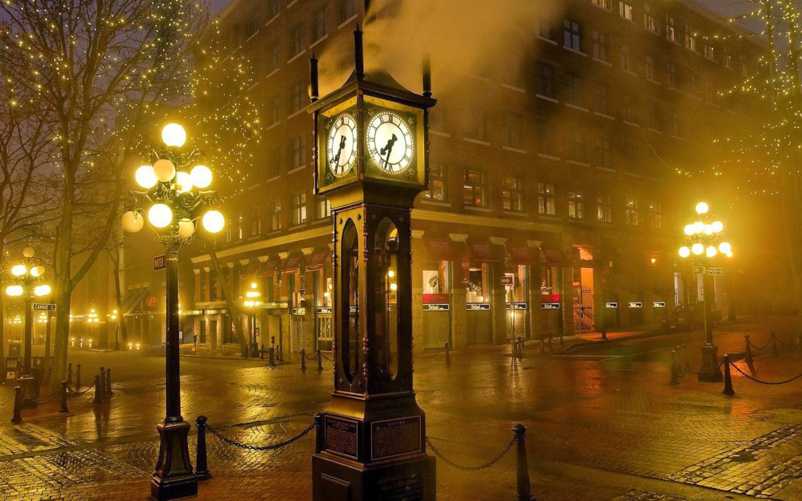 Vancouver Gastown Clock Wallpaper   HD Wallpapers Blog 1600x1000