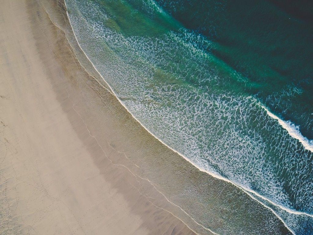 Aerial view beach sea waves wallpaper Waves wallpaper Aerial 1024x768