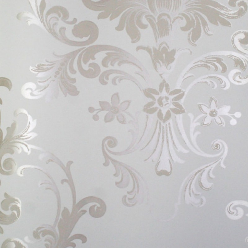 Zebra Wallpaper For Bedrooms White and Silver Wallp...