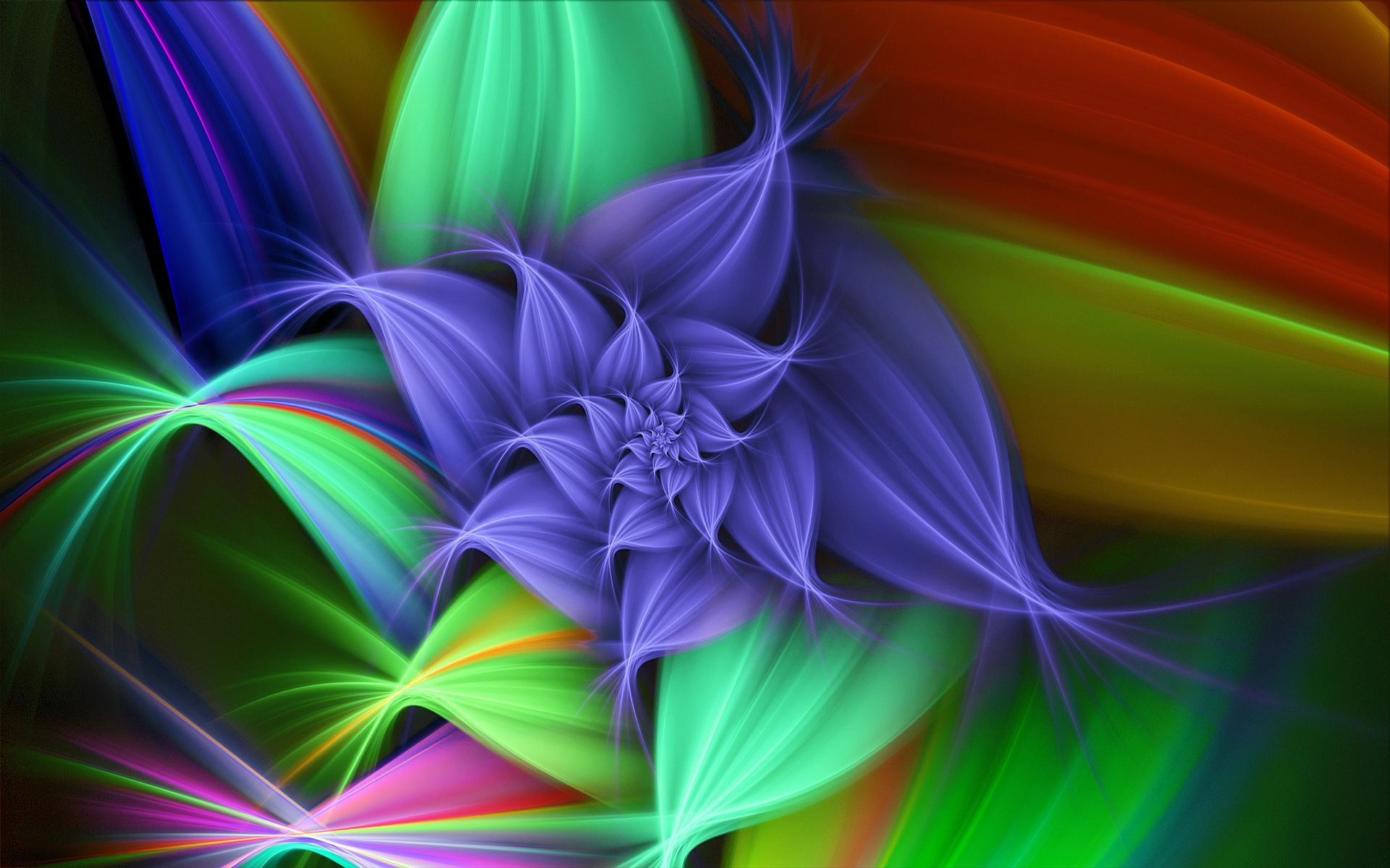 3D Abstract Flower wallpaper desktop background in 1920x1200 HD 1920x1200