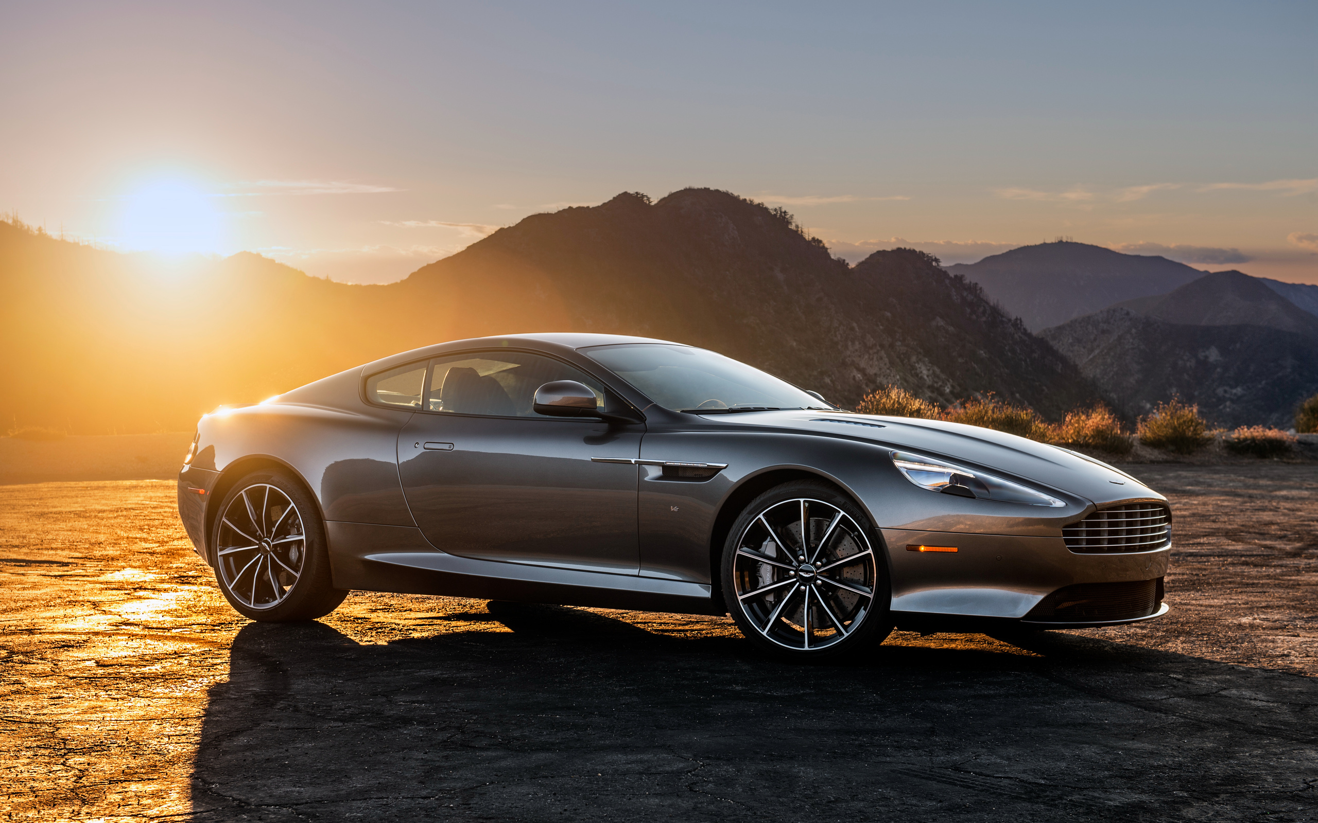 Aston Martin DB9 at sunset 4K Ultra HD wallpaper 4k WallpaperNet 2560x1600
