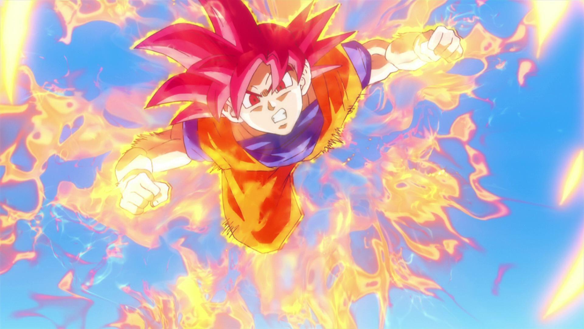 Goku Super Saiyan God 1080p Wallpaper Dragon Ball Dragon ball 1920x1080