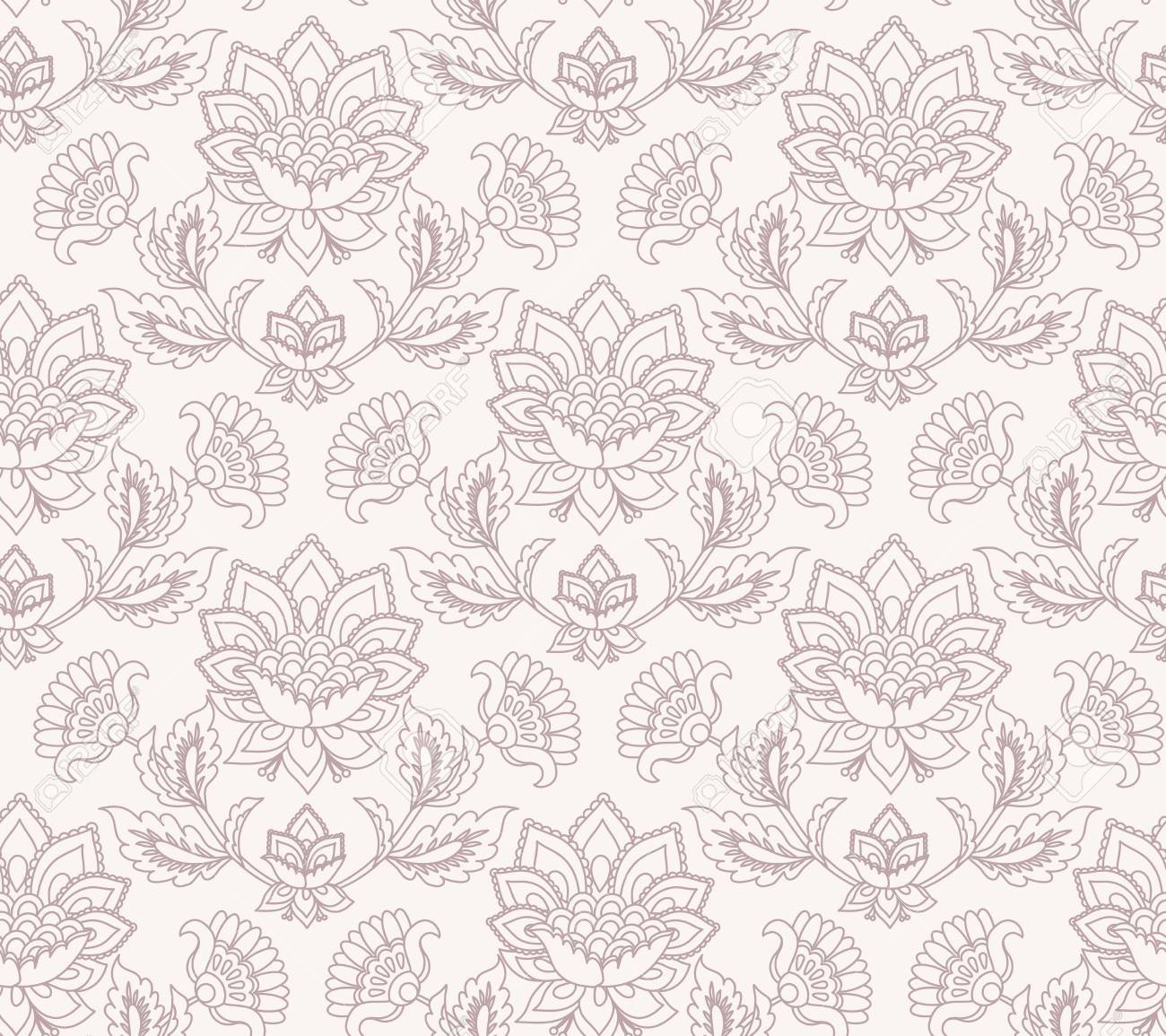 Jacobean Floral Illustration Meadow Flowers Background Two 1300x1155