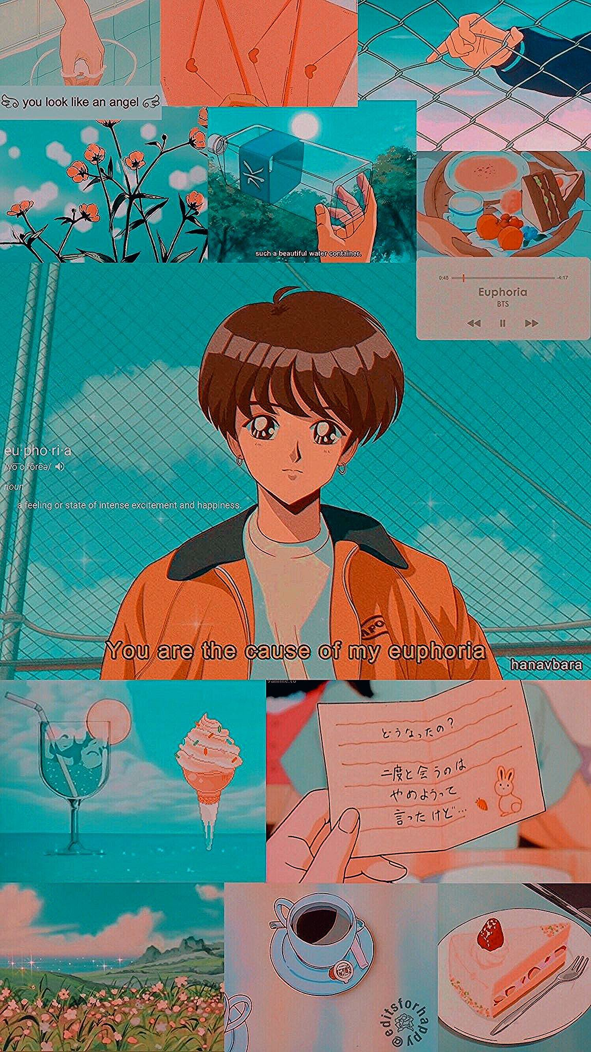 Jungkook Aesthetic Anime Wallpaper Credits to twitter 1150x2048