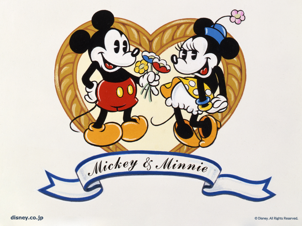 or share Mickey And Minnie Mickey And Minnie Wallpaper on Facebook 1024x768