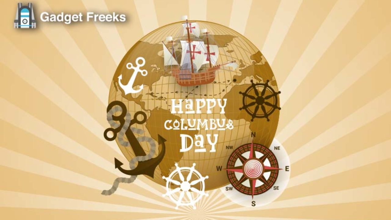 Happy Columbus Day 2019 Wallpapers Stickers Clipart PNG Images 1280x720