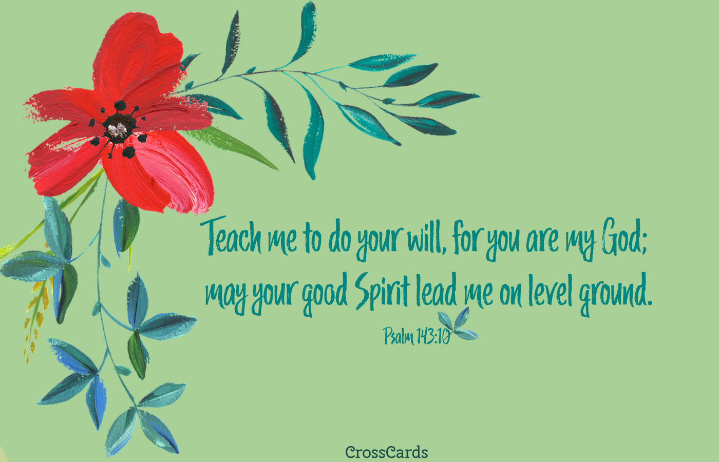 Psalm 14310 Teach me to Do Your Will for You are my God   Bible 1400x900